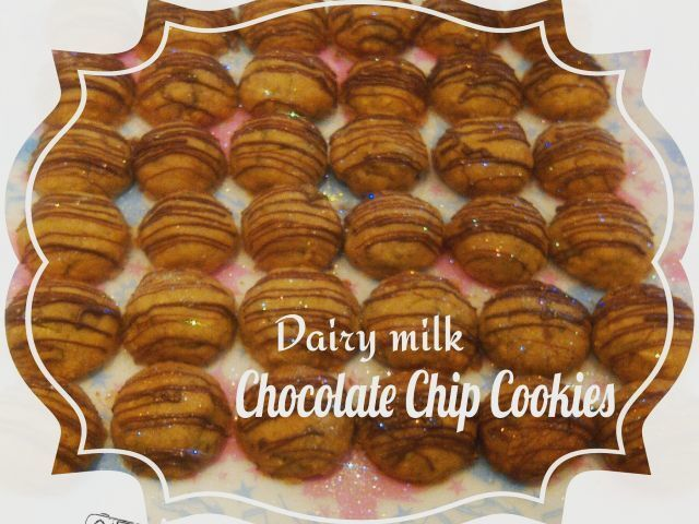 Dairy milk choc chip cookies