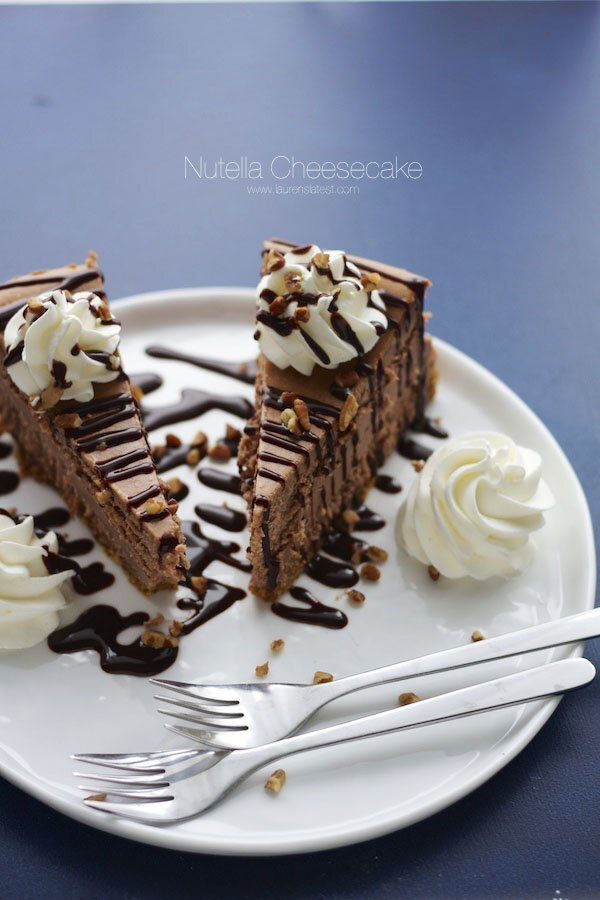 New York Style Nutella Cheesecake