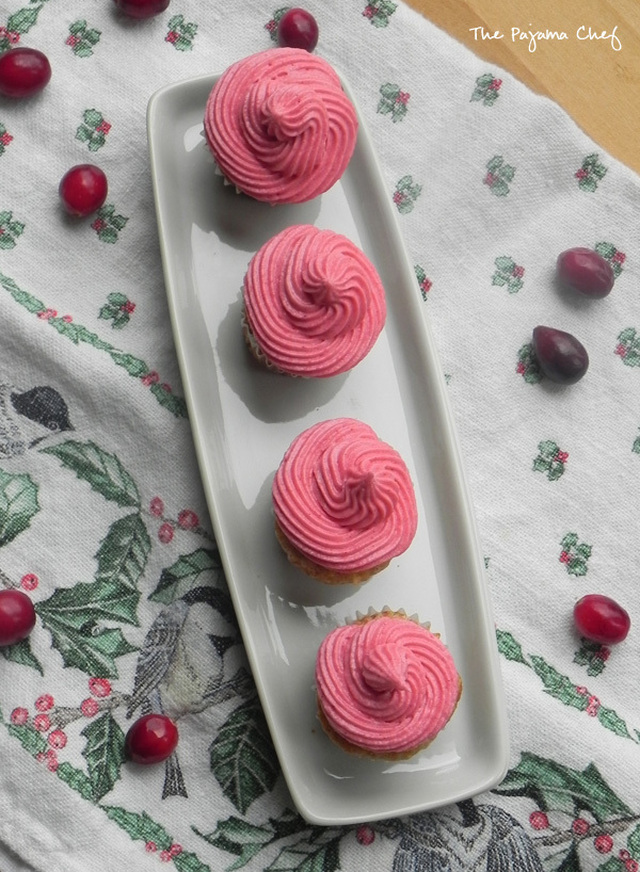 Cupcake Day: Mini Apple Cupcakes with Cranberry Buttercream