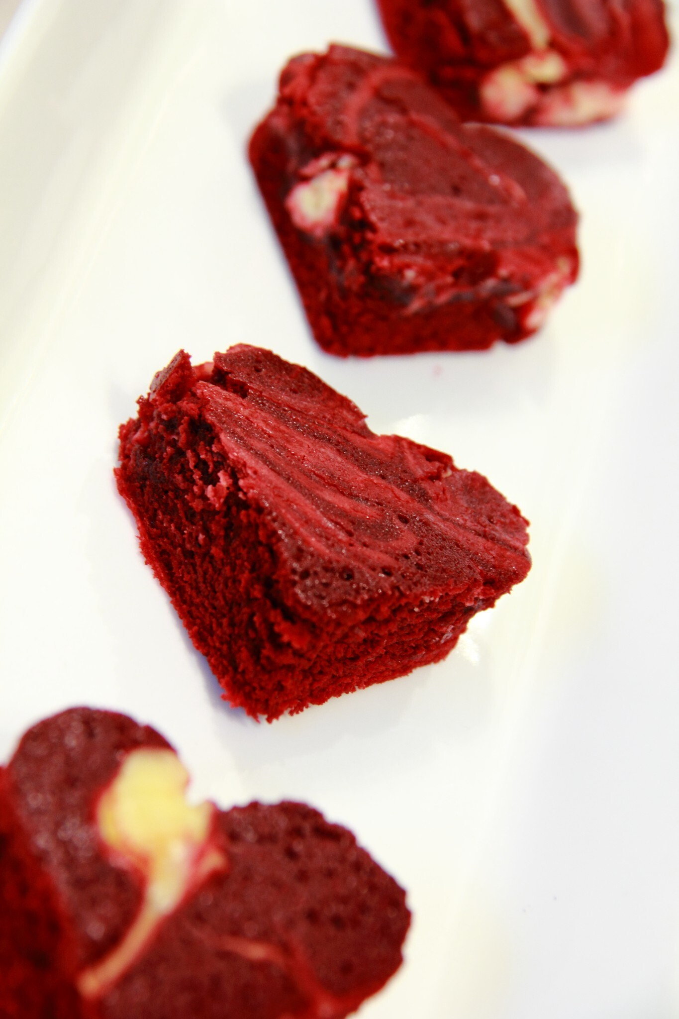 Red Velvet Cheesecake Swirl Heart Brownies