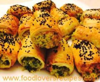 CHEESE AND SPINACH ROLLS