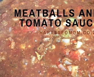 Meat Balls and Tomato Sauce