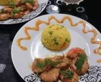 SAVOURY PRAWNS AND RICE
