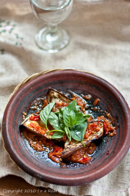 Sambal Terong Bakar (Home cooked Indonesian Style Spicy Chargrilled Eggplant)