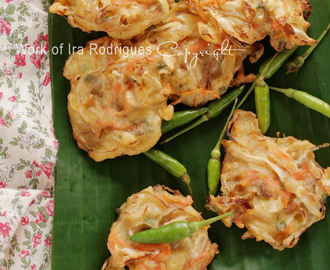 Vegetable Fritter / Bala-bala  as Indonesian favourite deep fried snack
