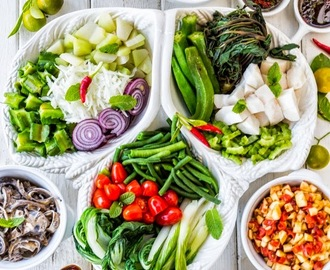 3 Asian Vegetable Salads and 3 Kinds of Dressings