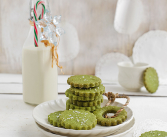 Matcha (green tea) sea salt cookies