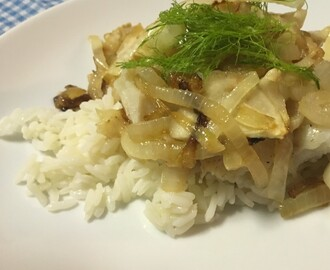 Oven-roasted Hake and Fennel