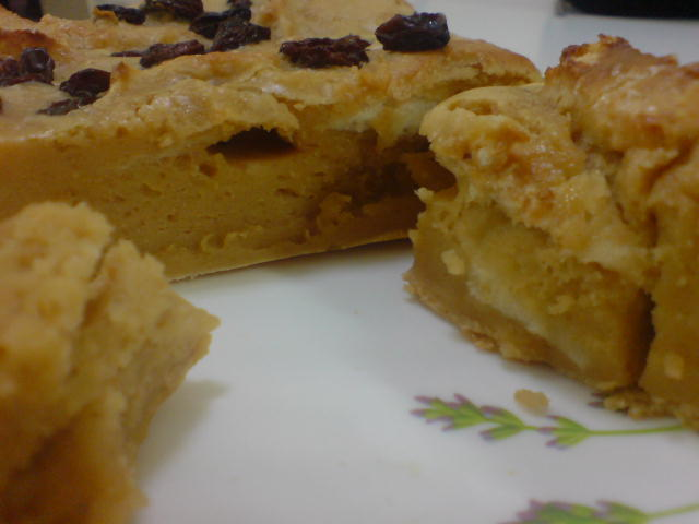 puding roti peanut butter