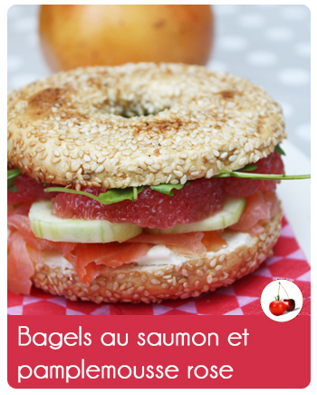 Bagels au saumon et pamplemousse rose
