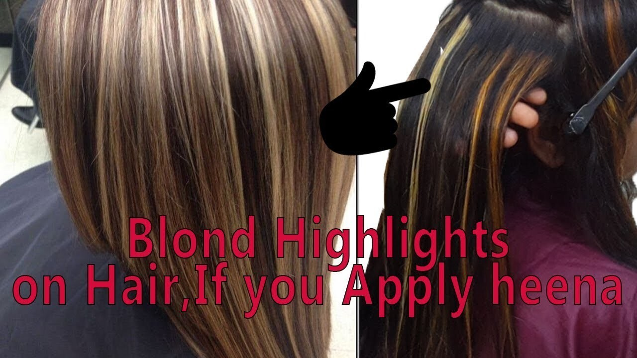 Highlights Hair-Do Highlighting On Heena Applied Hair-Fashion Colour-Step by Step-Hindi