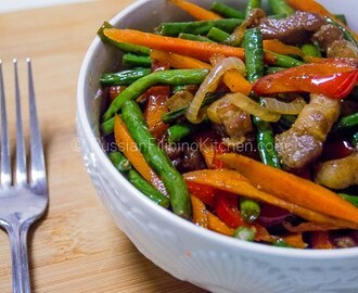 Ginisang Sitaw (Sauteed Long Beans With Pork)