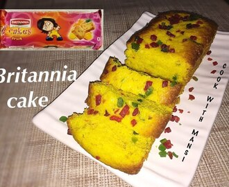 Eggless fruit cake recipe - Britannia cake recipe - How to make pineapple flavour Britannia cake