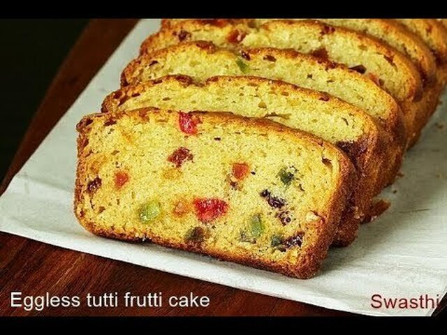 Tutti frutti cake recipe | Eggless tutti frutti cake | How to make eggless cake