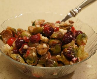 Brussels Sprouts, Cranberries, and Pecans Salad