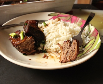 Boneless Short Ribs with Asian BBQ Sauce