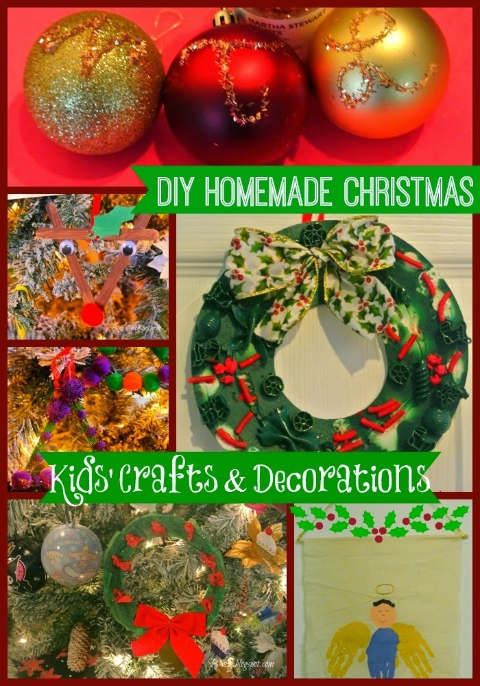 DIY Homemade Christmas Kids' Crafts and Decorations