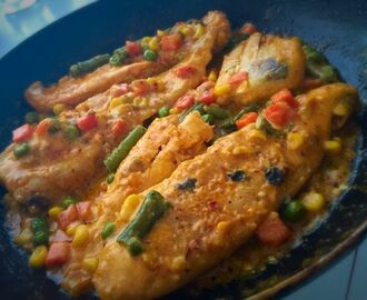 Porta grilled  creamy fish  | my recipe