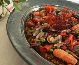 Moorish Seafood Risotto w/ Freekeh