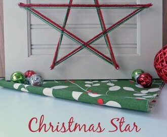 DIY Christmas Star Holiday Decor