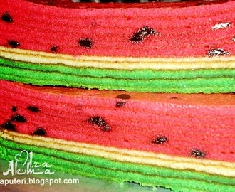 Kek Lapis Watermelon Cheese