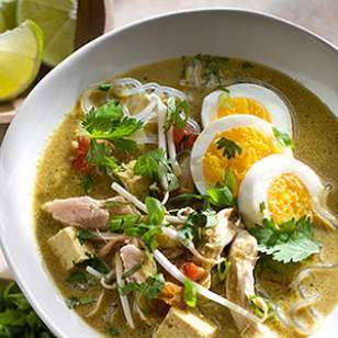 Singapore-Style Chicken & Noodle Soup