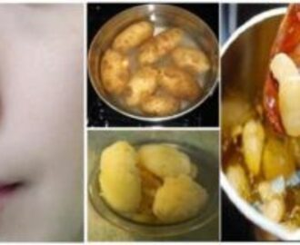 PERMANENT SKIN WHITENING WITH BOILED POTATO