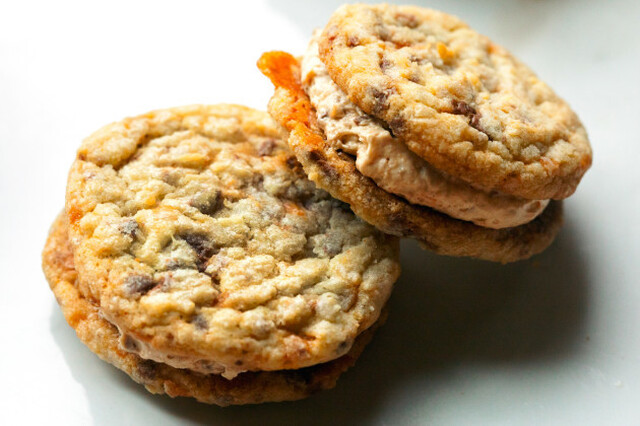 Butterfinger Cookie Sandwiches