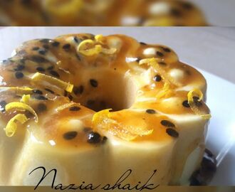 Passion fruit pannacotta