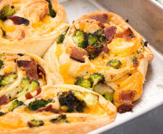 Bacon, Broccoli, and Cheddar Roll-Ups