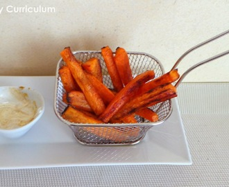 Frites de carottes au cumin et au four (Carrot chips (or french fries) with cumin baked in oven)