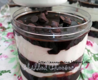 CHILLED CHOCOLATE CHEESECAKE -Cake in Jar