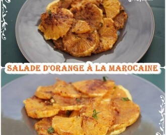 Salade d'orange à la marocaine