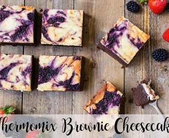 Thermomix Brownie Cheesecake