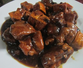 PORK and TOFU in OYSTER and BLACK BEANS SAUCE