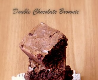 Double chocolate brownie- Best brownies - Christmas special recipes - Step by step
