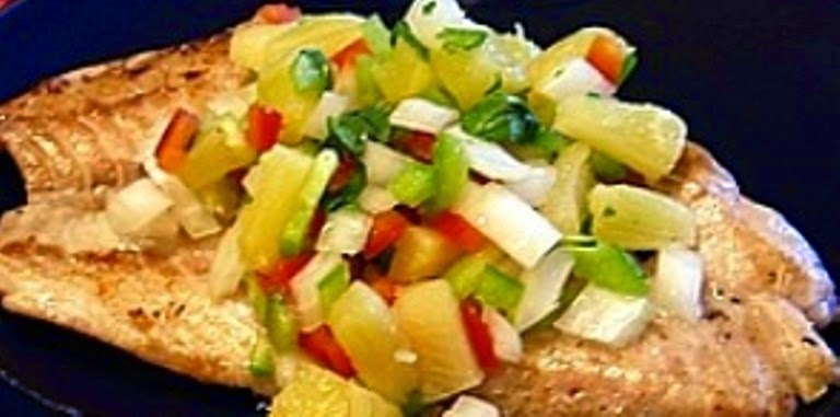 Tilapia Fillets with Salsa #SeafoodRecipesWorldwide