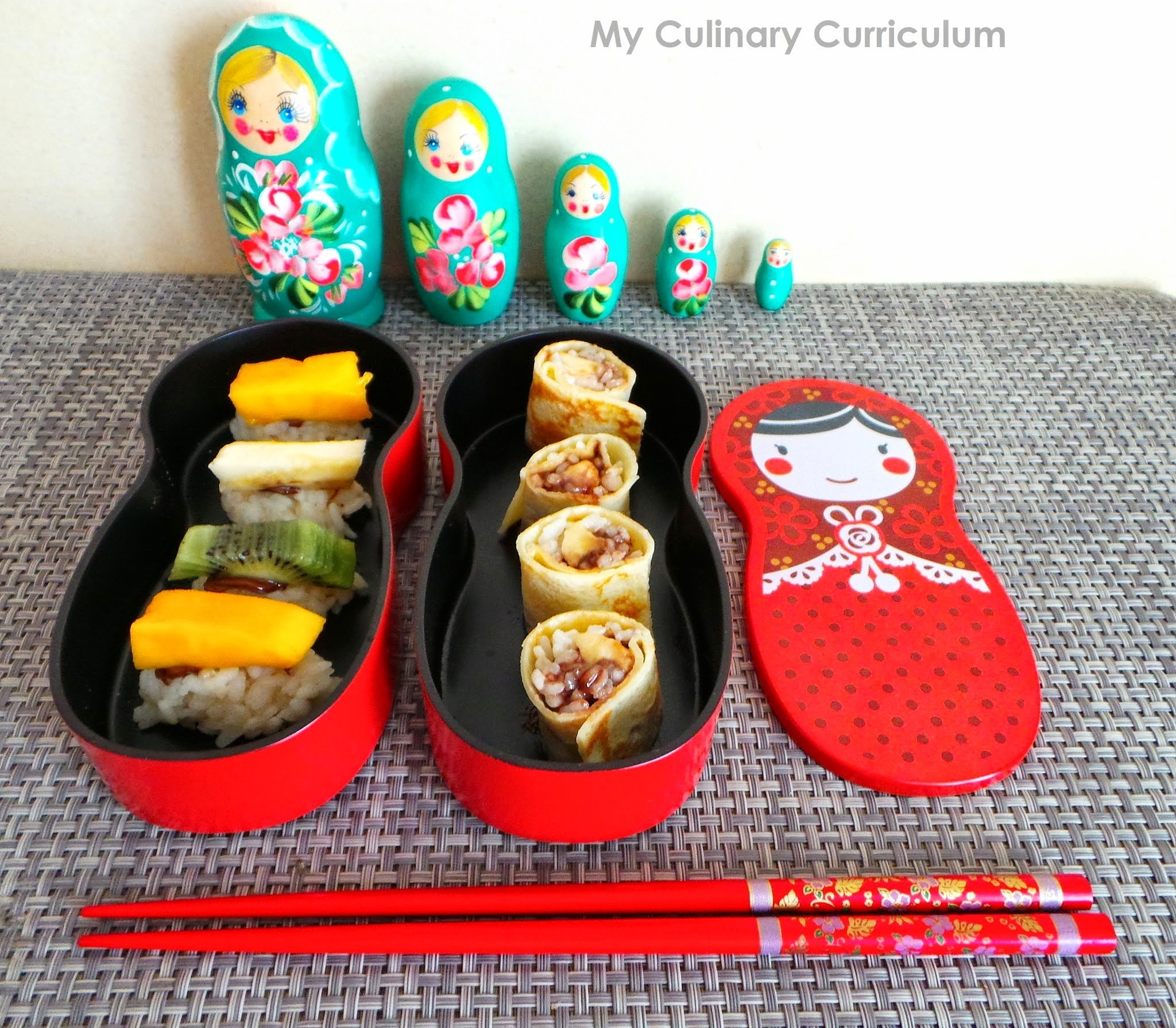 Sushis et makis sucrés en bento (Sweet sushis and makis in bento)