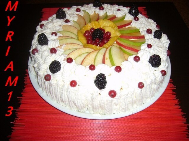 CHARLOTTE AUX FRUITS ET MASCARPONE