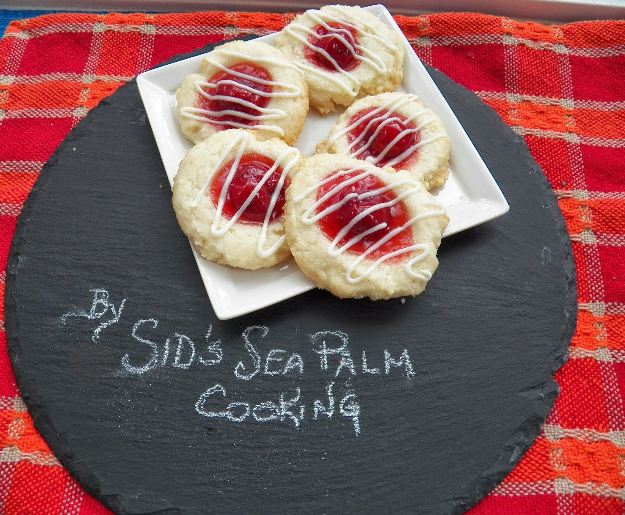 Cherry Pie Shortbread Cookies for  SRC Cookie Carnival 2014