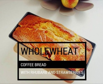 WHOLE WHEAT COFFEE CAKE WITH RHUBARB AND STRAWBERRIES