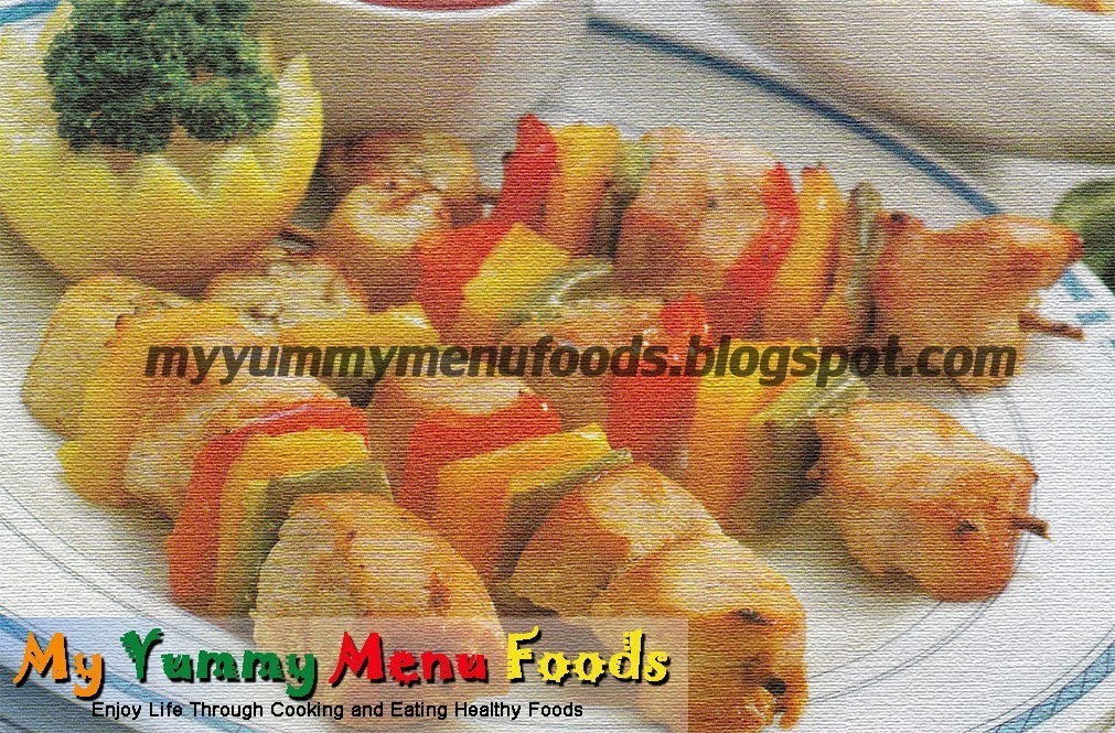 TURKEY BREAST, BANANA WITH BELL PEPPER AND SWEET SOUR SAUCE