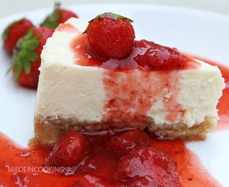 Cheesecake New-Yorkais et son coulis de fraises