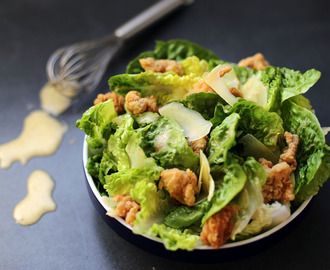 Ceasar Salad with Popcorn Chicken