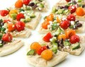 Greek Salad Hummus Flatbread