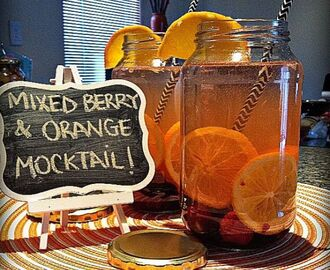 Mixed Berry and Orange Mocktail