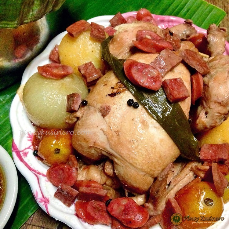 Kinulob na Manok (Banana Leaf Covered Slow-cooked Chicken)