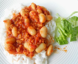 White beans and Soy Bolognese