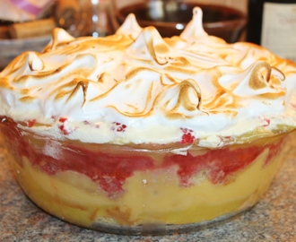 Raspberry, Coconut & Lemon Meringue Trifle