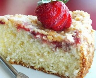 Coconut Strawberry Spongy Cake